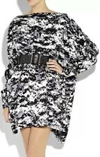 new RRP $1880 THOMAS WYLDE 100% SILK ASYMMETRIC DRESS + BELT L 14 16