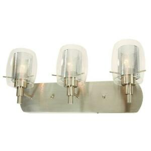 NEW HAMPTON  BAY Lettie 3-Light Brushed Nickel Vanity Light