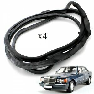 Mercedes Benz W126 SEL Outer Door Rubber Seals - Weatherstrip Seal Gasket New
