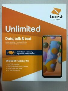NEW Boost Mobile SAMSUNG Galaxy A11 Smartphone 1st Month bill Free LIMIT 1