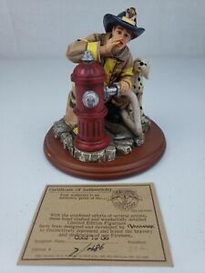 Good To Go Firefighter Figurine Vanmark Red Hats of Courage FM88002 w/ COA!