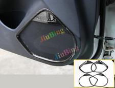 4X For MAZDA 3 Axela 2014-2017 Carbon Fiber Car Door Loudspeaker Horn Cover Trim