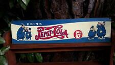 "Vintage 1940, Drink Pepsi Tin Sign, Keystone Cops, Trade Mark US Patent, 21-3/4"""