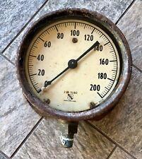 Vintage Ashcroft 1850 2 Lb Subd Cast Iron Water Pressure Gauge Amp 8236