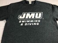 James Madison T-Shirt Adult Medium Swimming & Diving Student Alumni JMU Dukes