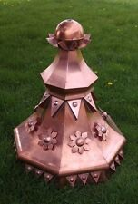 38'' tall  QUALITY made unique octagonal copper finial as shown
