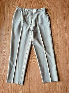 Vintage 1978 Levi's Sz 16 Green Bend Over Pants  High Waist Flare Leg Polyester