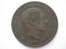 Spain 1877 5 Centimos NVF
