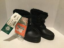 Vtg SOREL Kaufman Phoenix Blue Black Boots /Wo's Sz 6 or 6.5M / NOS NEW - CANADA