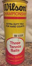 Sealed Vintage Wilson Championship 3 Optic Tennis Balls Heavy Duty Felt