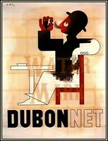 Dubonnet Vintage Poster 1932 Art Print Retro Style Art French Wine Liquor Ad (b