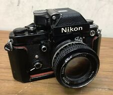 Nikon F2A Photomic 35mm SLR Film Camera Black with 50mm lens
