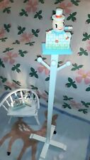Baby Nursery Humpty Dumpty Vintage Irma Clothe Stand, Nightlight & Switch plate