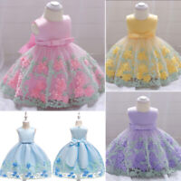 Kids Girl Flower Dress Infant Baby Pageant Wedding Birthday Party Fancy Dresses
