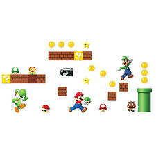 SUPER MARIO CREATE A SCENE Wall Decals New in Package