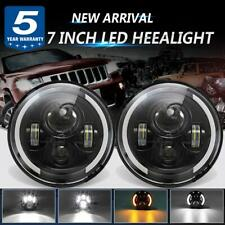 DOT 7 inch LED Headlights For JEEP JK V W Beetle Classic Chevy Pickup Truck 3100