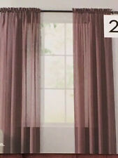 Sonoma Curtain Panel Set - Crushed Voile Sheer Rose