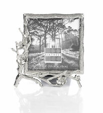 "Antique Silver Ornate Blackthorn  Photo Frame for a 4"" x 4"" Picture"
