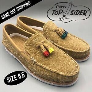 Sperry Top-Sider Men's Authentic Original Tan/ Tassel Leather Loafers STS22441