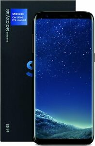 Samsung Galaxy S8, 64GB, Midnight Black (Renewed)