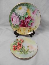 Set of 2 Vintage Collector Plates Favorite Bavaria   Flowers