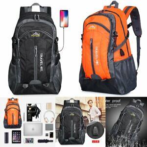 Anti-theft Mens USB Charger Port Backpack Laptop Notebook Travel School Bag J