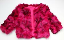 PURPLE JAM REAL FOX FUR Cropped Jacket UK 8-10