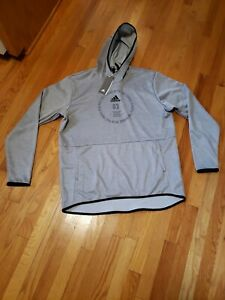 Mens ADIDAS Team Issue Badge Of Sport Hoodie EI8378  Gray XL