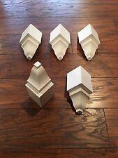 """Crown Moulding  Inside Corner Blocks made For 3 5/8"""" Crown! 5 pack! NEW ITEM!"""