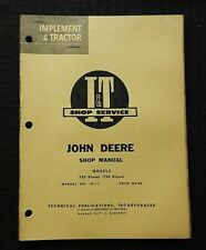 1960 JOHN DEERE MODEL 720 & 730 DIESEL TRACTOR SERVICE SHOP REPAIR MANUAL