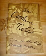 Ma's Cookin Notes Seaton cook book hillbilly Ozark recipes mountain booklet