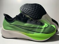 Nike Zoom Fly 3 Electric Green Black White Running Shoe AT8240-300 Mens Size
