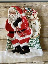 "2005 Fitz & Floyd Santa Claus Chip And Dip / Platter Large 17"" x 12"""