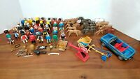 Vintage Playmobil Figures Horses Bulls Car Weapons 70s 80s 90s 00s Soccer Pirate