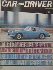 Car & Driver magazine 04/1963 featuring Ferrari, Corvette, Maserati, Chrysler