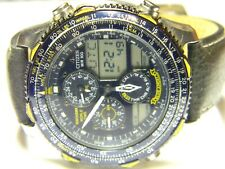 mens Citizen Navihawk Blue Angels Digital LCD World Time Sports Pilot watch C300