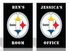 PERSONALIZED Pittsburgh Steelers Light Switch Covers NFL Football Home Decor