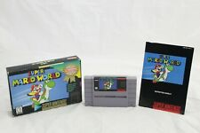 Super Mario World SNES Player's Choice Complete in Box