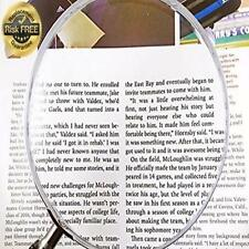 "Large Classic Round Magnifying Glass 5"" With Powerful 2X-4X Magnification- Durab"