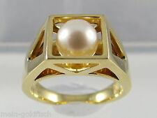 Toller JETTE JOOP Ring aus 750er Gold mit Perle Gr. 56