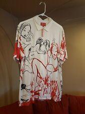 Supreme Rita Ackermann Rayon s/s Shirt White size L