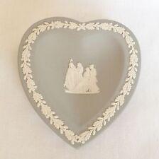 Wedgwood Grey Jasperware Heart Pin Dish