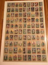 1982 Renata Galasso 1910-1911 T3 Turkey Red Uncut Sheet Of 90 Baseball Cards