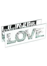 Liebe Valentinstag Hochzeit Geschenke Spiegel Kristall T-Lite Halterung Set mit 4 Haltern