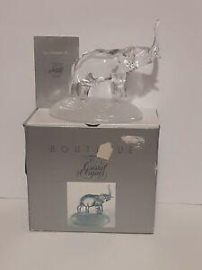 Cristal d'Arques France 24% Lead Crystal Elephant