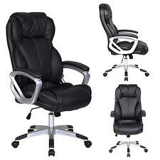 PU Leather Executive Office Chair Tilt Nylon Swivel High Back Computer Desk Task