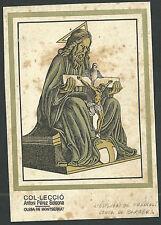 Estampa antigua la Santissima Trinidad andachtsbild santino holy card santini
