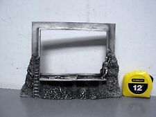 PEWTER TABLE-TOP HIGHWAY BILLBOARD PICTURE PHOTO FRAME STANDING HOLDER 4x6 LOT 2