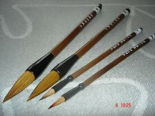 4 CHINESE WOLF HAIR 2XL LM WRITING SUMI PAINTING BRUSH JAPANESE CRAFT ART TOOL