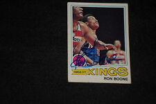RON BOONE 1977-78 TOPPS SIGNED AUTOGRAPHED CARD #119 KINGS